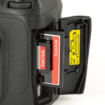 memory card slot on Nikon D300