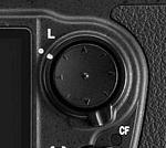Four-way selection pad on a Nikon DSLR