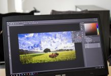 Editing photos with raster graphic software and apps
