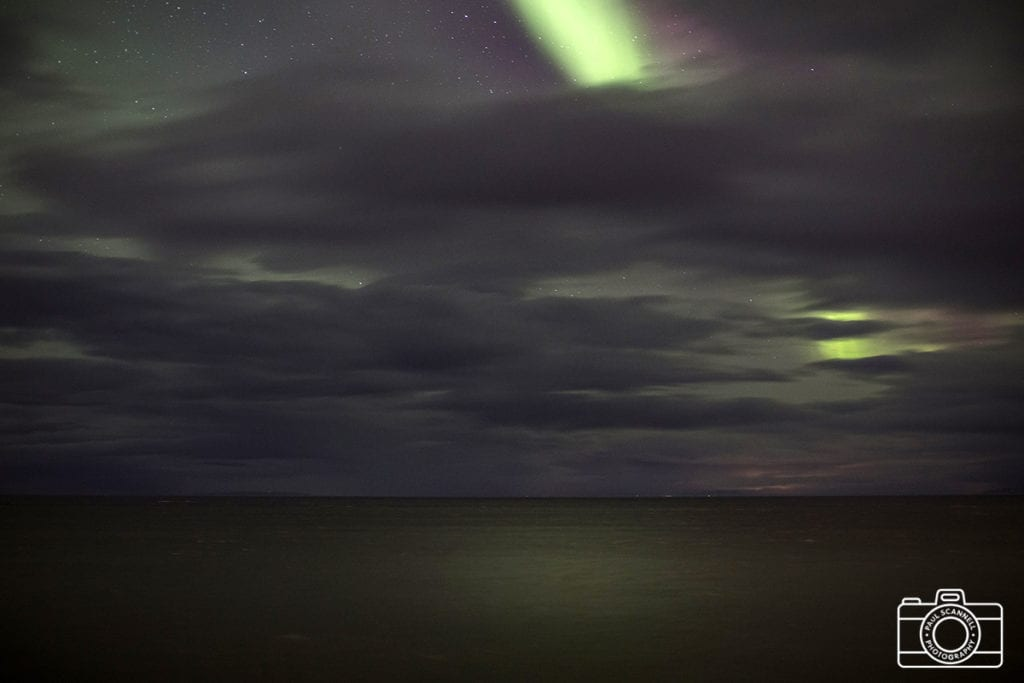The aurora over the sea